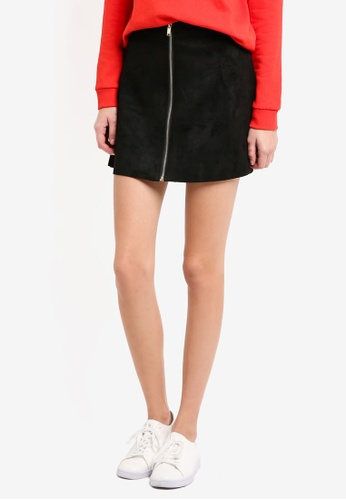 ONLY black ONLY ONE Faux Suede Skirt 7A1ECAA56B61F8GS_1