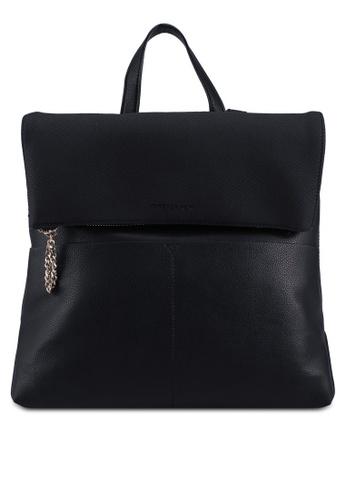Forever New black Kayla Foldover Backpack 2B5CFAC97BD50CGS_1