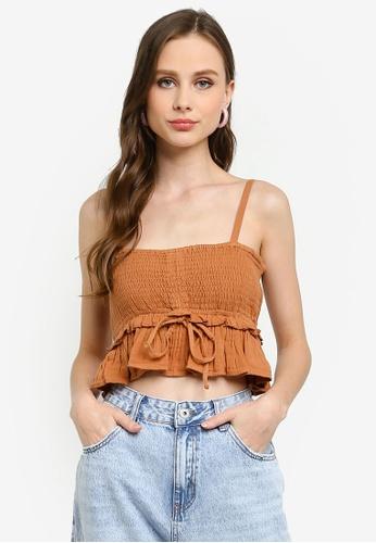Cotton On multi Gypsy Shirred Ruched Cami Top B26EDAAEB810FDGS_1