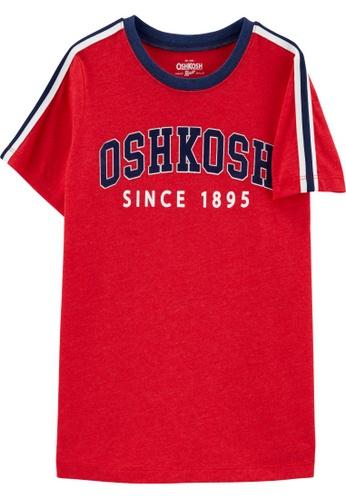Oshkosh B'gosh red OSH KOSH Boy Logo Short Sleeve Ringer Tee 5C58CKADB3E2B5GS_1
