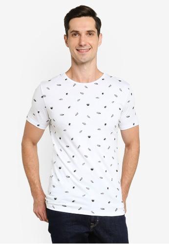 LC Waikiki white Crew Neck Printed Short Sleeve T-Shirt 6C68BAA4E22671GS_1