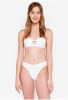 7d02e57acd MISSGUIDED white Cage Open Front Bandage Bikini Set 8763AUSD0F845BGS 1