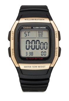 W-96H-9AVDF 樹脂電子男錶