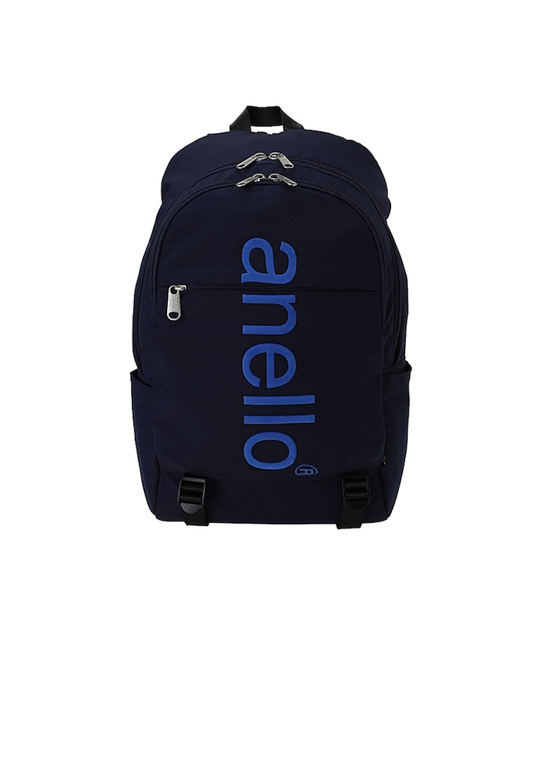 Black Polyester anello Backpack Friday Logo Big Anello Navy wPCOz4xq ... 7bca7b023b4b5