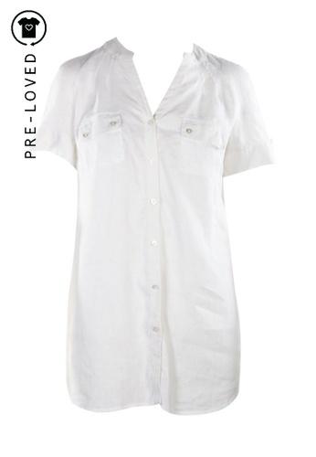 Marina Rinaldi white Pre-Loved marina rinaldi White Shirt with Short Sleeves 9214BAA9CACEA8GS_1