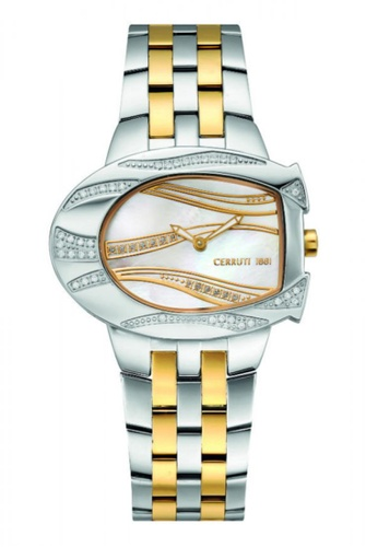 CERRUTI 1881 multi Stainless Steel & IP Gold Bracelet White MOP Dial Ladies Watch CE514AC46QOFMY_1