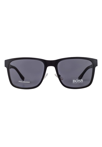 Hugo Boss black HUGO BOSS Square Black Polarized Sunglasses 0748FS HU898AC43OWAMY_1