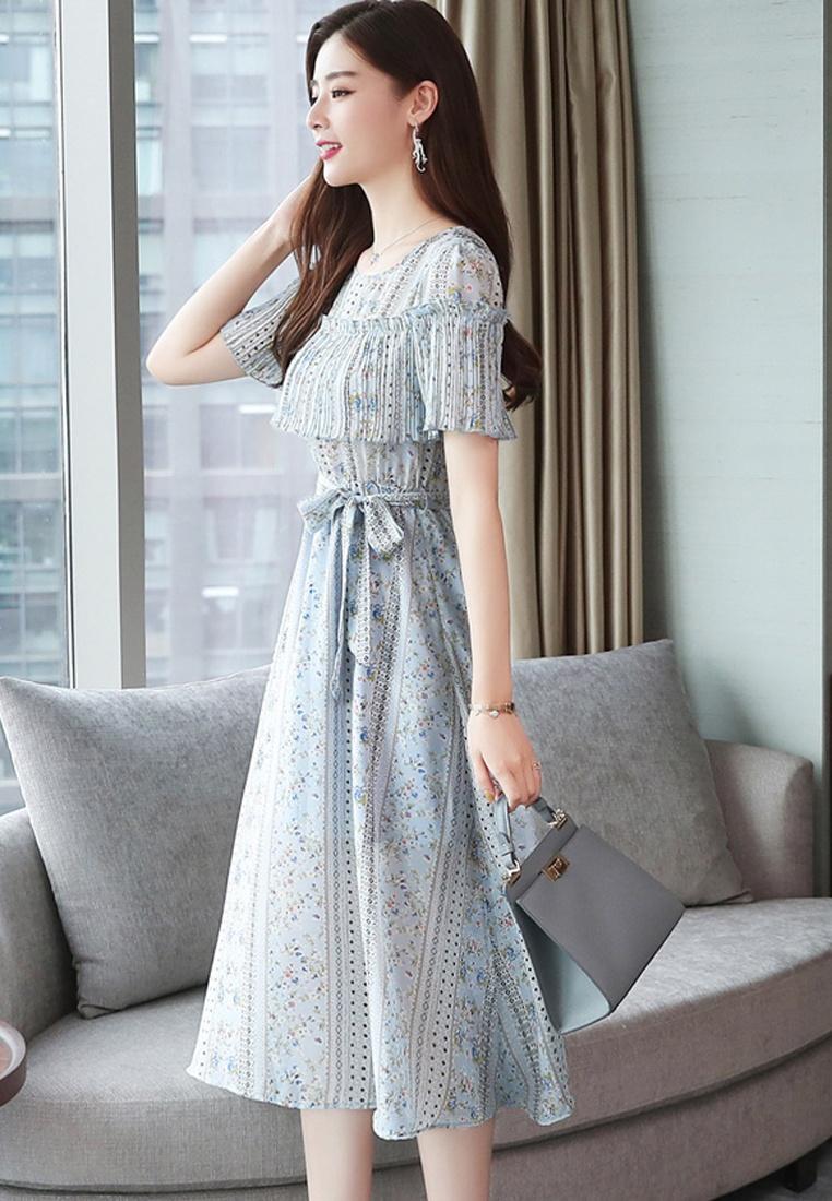 Printed Maxi Multi Summer Halo Dress Floral q500nwFA