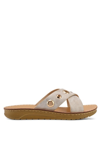 Noveni beige Slide On Sandals B0FB5SHADC9B1FGS_1