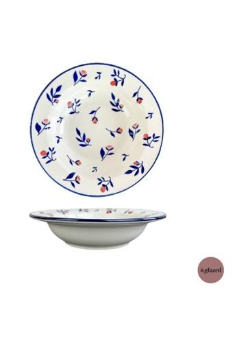 &glazed white and blue &Glazed Poppy 9-inch Medium Deep Dish Alfredo 9DFABHLC9B822EGS_1