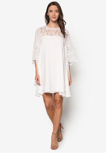 透膚蕾絲和風連身裙, 服飾,esprit tw 洋裝