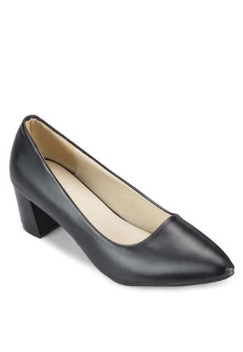 CORA 基本款粗跟鞋, esprit outlet 高雄女鞋, 鞋