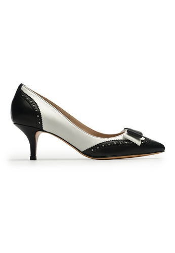 Byford black and white and multi Redgrave Pointed Toe Heels D190CSHAC1278EGS_1