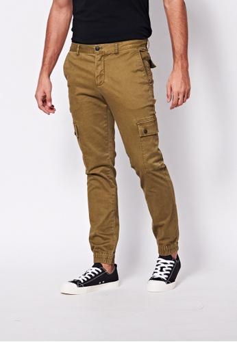 Sisley green Slim Fit Cargo Pants 595D4AAC0A6D99GS_1