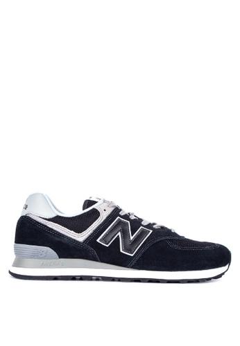 New Balance black 574 Evergreen Lifestyle Shoes 231FESHADD2C68GS_1