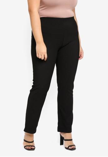 Gene Martino black Plus Size Pants 83FC6AA79BD3F0GS_1