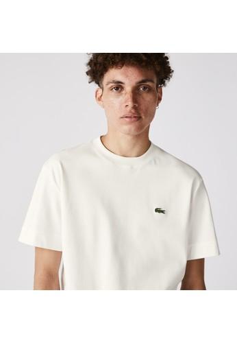 Lacoste white Unisex Crew Neck Organic Cotton T-shirt C9606AA9ABE25EGS_1