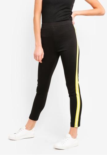 ZALORA BASICS black Basic Jersey Leggings With Side Stripes F0F21AA4D757D4GS_1