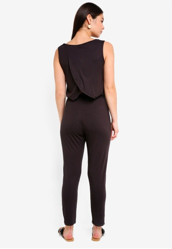 ICHI black Gipsy Jumpsuit F8316AAC5CCE56GS_1