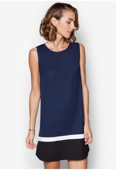 Collection Colour-Block Scoop Hem Shift Dress