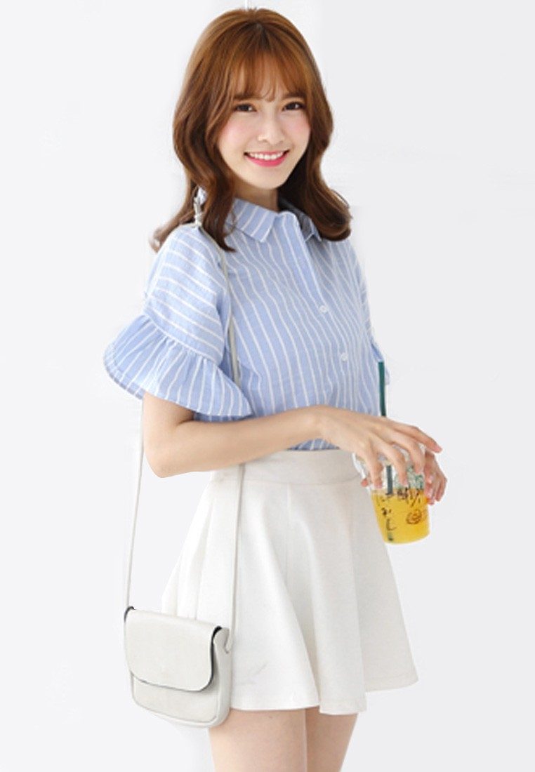 K-Style Pinstriped Top