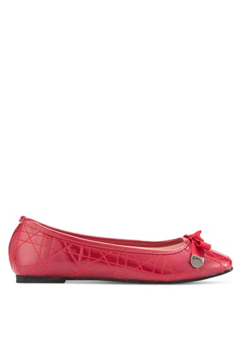 Sunnydaysweety 紅色 2018 經典蝴蝶結方頭平底鞋 RA10200RD E941FSH40997F0GS_1