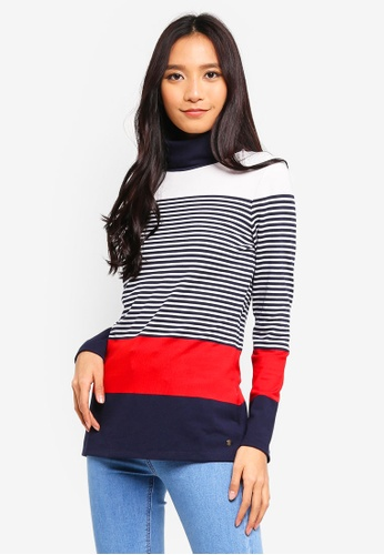 ESPRIT multi and navy Long Sleeve T-Shirt 8868AAAA7460ABGS_1