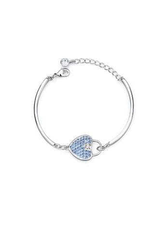 Adora Blue Swarovski Heart Bracelet 69e42acc7b292dgs 1