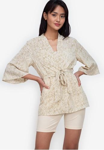 ZALORA BASICS multi ¾ Sleeve Kimono Jacket A8101AA112769EGS_1