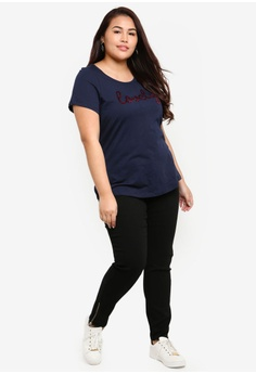5867987481c 30% OFF Junarose Plus Size Woven Jeans RM 239.00 NOW RM 166.90 Available in  several sizes