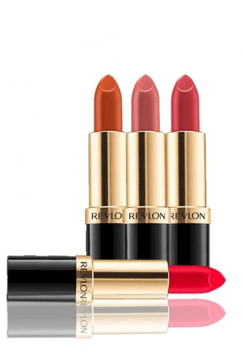 Revlon red and pink and beige Revlon Super Lustrous™ Lipstick - Best-seller Crème Collection 4.2g * 4 Ea RE737BE51CWMSG_1