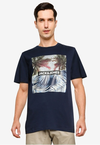 Jack & Jones navy Jorstein Crew Neck T-Shirt 2CFCFAA960668DGS_1
