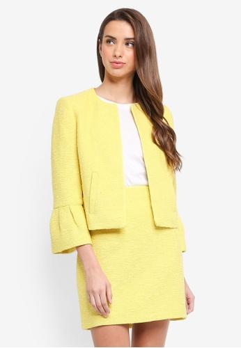 ESPRIT yellow Indoor Woven Short Jacket 35912AA2EC6E6FGS_1