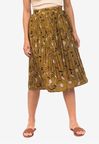 Caoros multi Pleated Floral Skirt 0BC7CAAD3CEE91GS_1