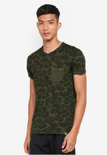 Indicode Jeans green Gatineau Printed Washed T-Shirt 4D844AA0CEC715GS_1