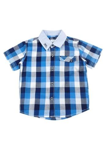 KIDS ICON blue Kids Icon Dykk0300190 Dyl with Pocket Detail Checked Kemeja Anak Laki-Laki DA06EKA7EBAAF1GS_1
