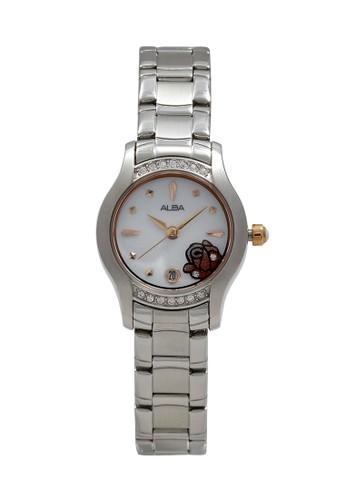 Alba silver ALBA Jam Tangan Wanita - Silver White Gold - Stainless Steel - AXT365 FF3A2AC3E68DF9GS_1