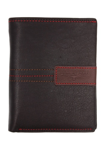 midzone black BULL RYDERS RFID Protection Genuine Leather Wallet 44694AC8750622GS_1