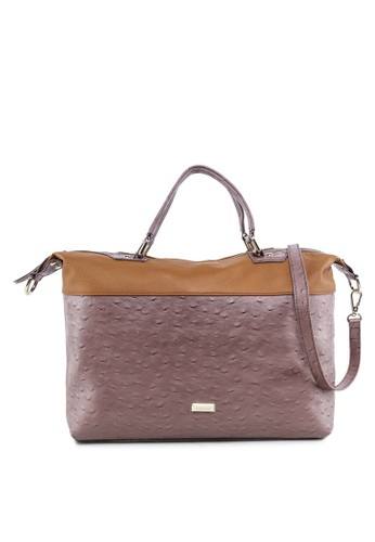 Kazizalora時尚購物網的koumi koumia 暗紋手提包, 包, 皮革系列