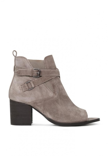 Rag & CO. beige Peep Toe Ankle Boots 4349DSH5B51FABGS_1