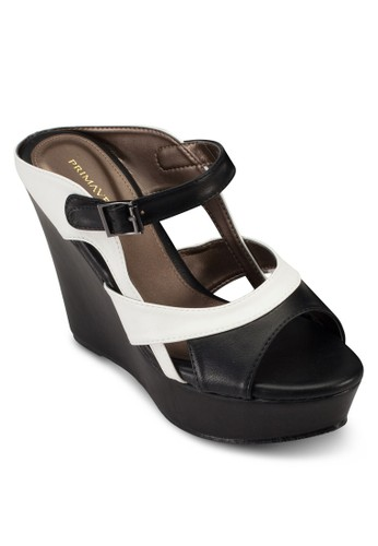 Zouk esprit 童裝撞色楔型跟涼鞋, 女鞋, 鞋