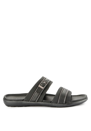 Homyped black Manta 02 Men Sandals 00B44SH64860ECGS_1