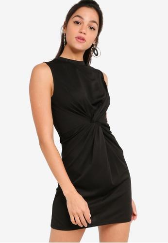 Something Borrowed black Twist Front Sleeveless Mini Dress 9C643AAA6DA87AGS_1