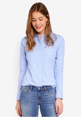 Hollister blue Core Classic Shirt E68B9AAB1EEB40GS_1