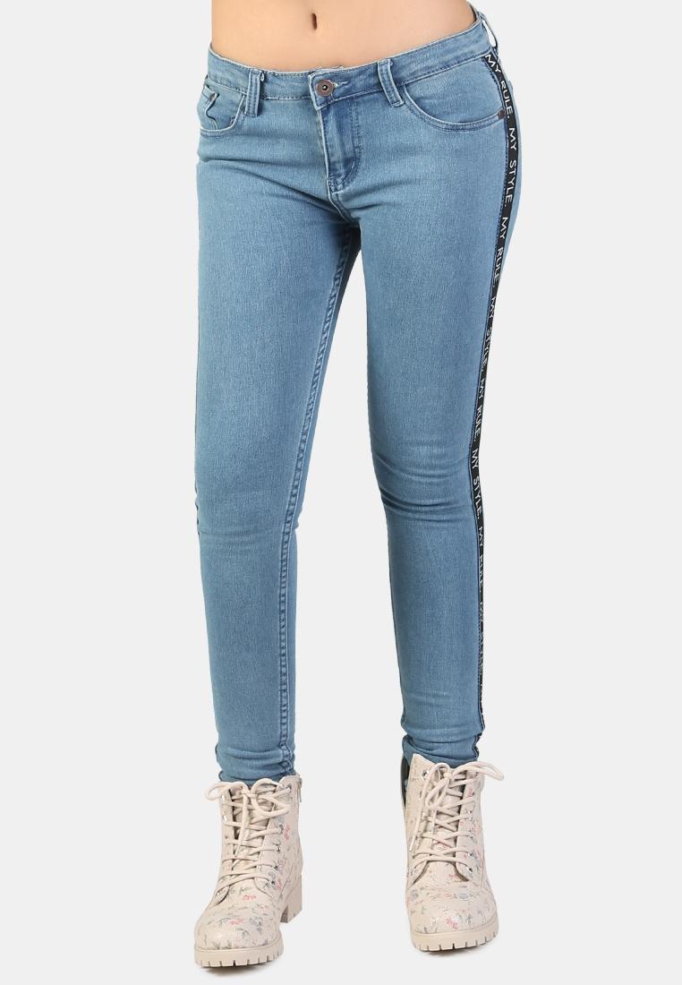 Blue Light Rag Tape Jeans Side Skinny London YX8dqq