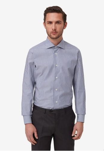 OVS blue Slim-Fit Shirt 46CEBAA47651CAGS_1