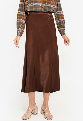 niko and ... brown Woven Skirt 47307AA05367C0GS_1