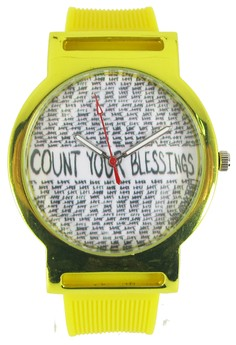 Pic Watch Count Your Blessing Unisex Silicon Watch