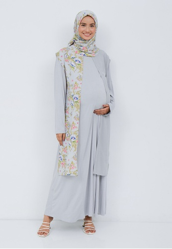 Chantilly grey Chantilly Gamis 2in1 Maternity/Nursing 53080 GY F5823AA96E96DBGS_1