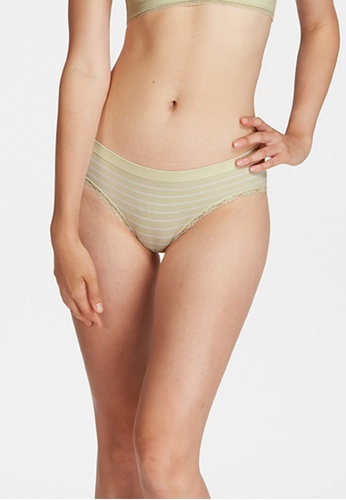 6IXTY8IGHT green THOMAS SOLID, Circular Knit Stripe Hipster Panty PT10813 40E05USCD2B1F9GS_1